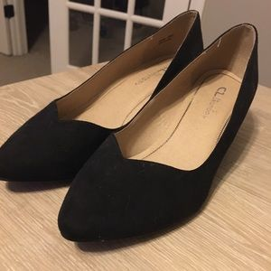 Black Formal Wedges